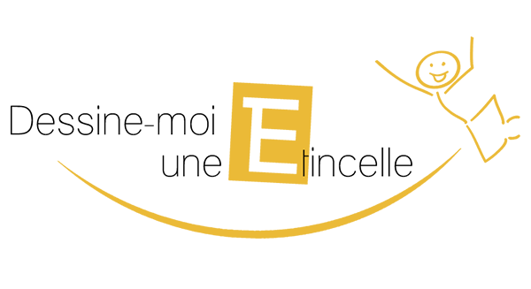 dessine-moi une etincelle, logo, être, devenir, transition educative, approche, tete, coeur, corps,particulier, établissement scolaire, entreprises